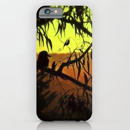 Kookaburra Silhouette Sunset iPhone Case