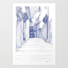 Chefchaouen (the Blue City) Art Print