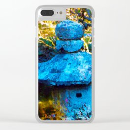 Japanese Painted Garden Clear iPhone Case
