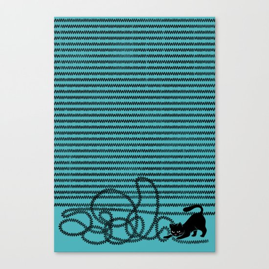 Unravel (in Blue) Canvas Print