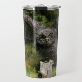 Baby Great Gray Owl Travel Mug