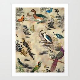 Old Vintage animals n1 print Art Print