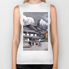 Panoramic View Of Everest Base Camp Biker Tank