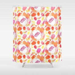Beautiful Australiana Floral Pattern - Native Australian Flowers and Koalas Shower Curtain