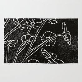 Dark Flowers Rug