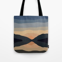 Sunset Mountain Reflection in Water Tote Bag