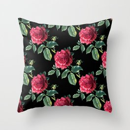 Pattern with roses 3 Throw Pillow