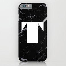 Black Marble - Alphabet T Slim Case iPhone 6s