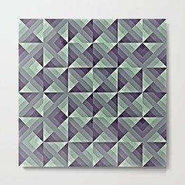 Strong Geometric Pattern Metal Print