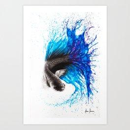 Azul Gourami Art Print