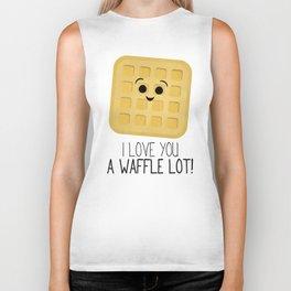 I Love You A Waffle Lot! Biker Tank