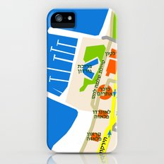 Tel Aviv Map - Gordon beach Slim Case iPhone (5, 5s)