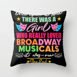 Girl Broadway Musicals Theater Acting Throw Pillow