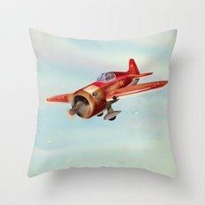 Old Soviet plane Throw Pillow