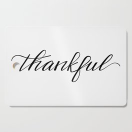 Thankful Calligraphy Cutting Board