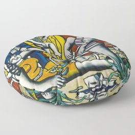Man in the New Age by Fernand Leger Floor Pillow