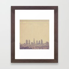 Southland. Los Angeles skyline photograph Framed Art Print