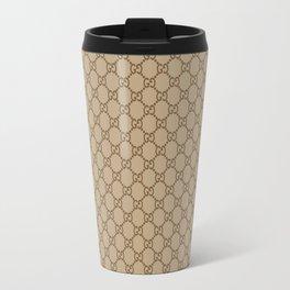 Gucci/GG Pattern Brown/Beige Travel Mug
