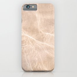 Coral Clear water | beach fine art photography | sea wave and sand iPhone Case