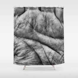 Left Hand Shower Curtain