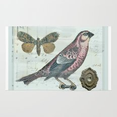 Vintage boho and bird Rug