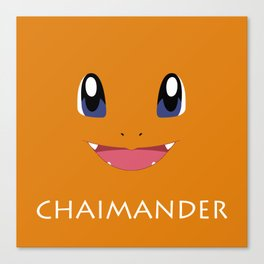 Chaimander all over Canvas Print