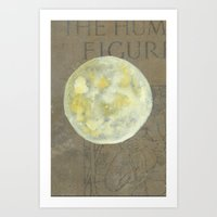 sun and moon Art Prints featuring Sun Moon by Matthew Kay