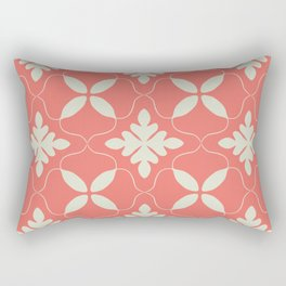 Floral coral - living coral seamless pattern Rectangular Pillow