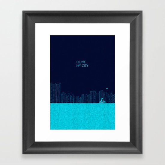 I love my City Framed Art Print