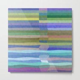 Fab Arty Stripes Metal Print