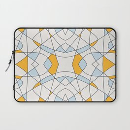 Abstract Retro Colored Church Window Laptop Sleeve