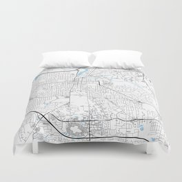 Ann Arbor, Michigan Duvet Cover