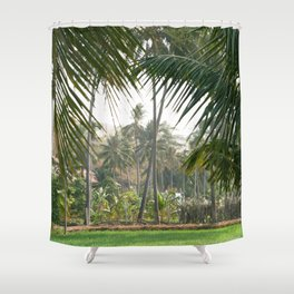 Exotic Palm Trees Shower Curtain