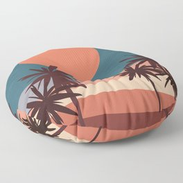 Abstract Landscape 13 Portrait Floor Pillow