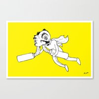 super hero Canvas Prints featuring Super Hero by PaytonMeyer