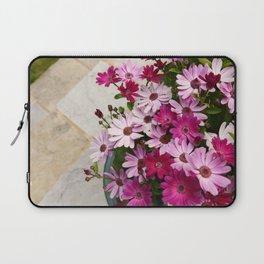 Flower pot full of African daisies Laptop Sleeve