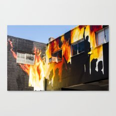 Flames on the Wall - Street Art Vancouver BC Canvas Print