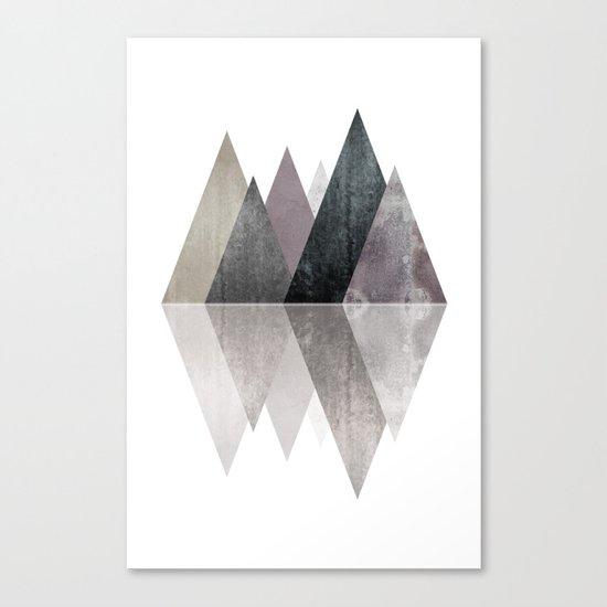 Modern Scandinavian Mountain Canvas Print