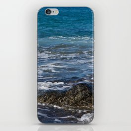 rock in the waves iPhone Skin