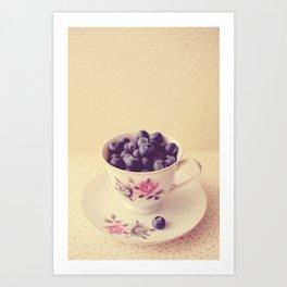 Blueberries in a Teacup Art Print
