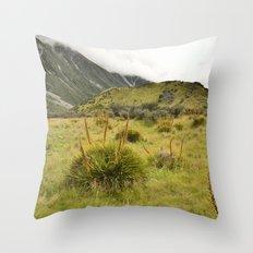 Grassy Landscape Throw Pillow