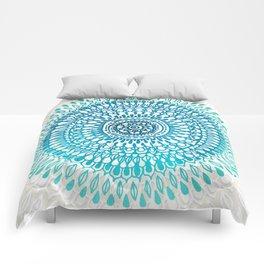 Radiate in Teal + Emerald Comforters