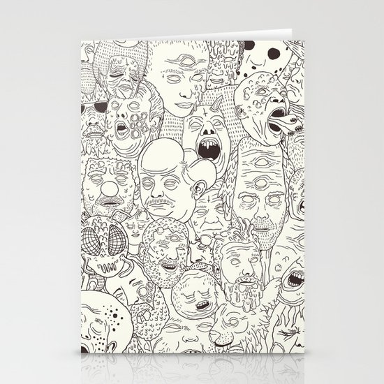 Faces of Math (no color edition)  Stationery Cards