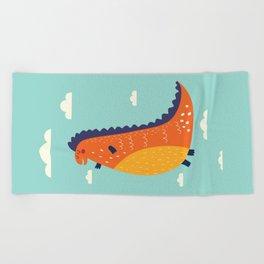 Funny Dinosaur Beach Towel