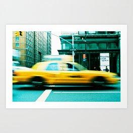 Taxi Blur Art Print