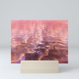 Rose Pink Ocean Water Mini Art Print