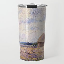 Haystack Eragny 1885 By Camille Pissarro | Reproduction | Impressionism Painter Travel Mug