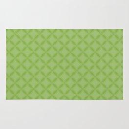 Greenery Green Geometric Interlocking Circle Pattern Rug