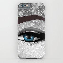 Glam diamond lashes eye #1 iPhone Case