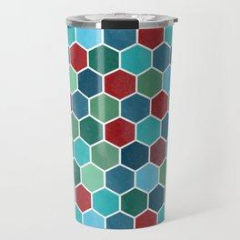 Colorful geometric pattern Travel Mug
